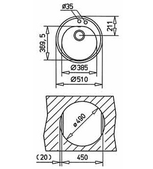 TEKA CENTROVAL 45 TG Schwarzmetallic [1]