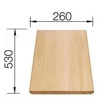 Tocator din lemn de fag 530x260 mm 0