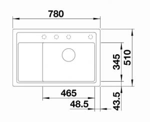 BLANCO ZENAR XL 6 S COMPACT ALB1