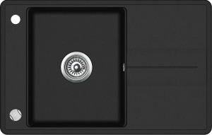 Pachet Aquasanita chiuveta Bella SQB101-601AW, silgranit cu baterie Tera 2763-601, cartus ceramic, negru  [1]