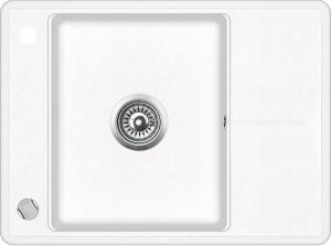 Pachet Aquasanita chiuveta Bella SQB102-710AW, silicsana cu baterie Forte-710, cartus ceramic, alb1