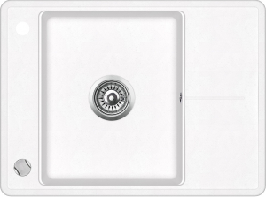 Pachet Aquasanita chiuveta Bella SQB102-601AW, silicsana cu baterie Sabia 5523-601, cartus ceramic, alb 1
