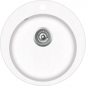 Pachet Aquasanita Pachet Clarus SR100-710AW, chiuveta silicsana, cu baterie Rondo cartus ceramic alb 1