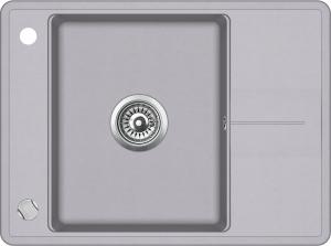 Pachet Aquasanita chiuveta Bella SQB102-601AW, silicsana cu baterie Sabia 5523-601, cartus ceramic, alumetalic [1]