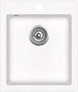Pachet Aquasanita chiuveta Simplex , silicsana, cu baterie Forte, cartus ceramic, alb1