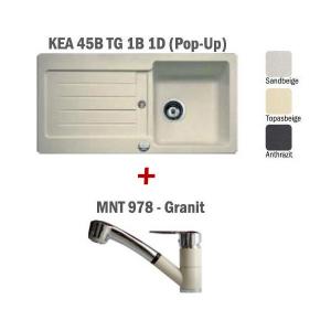 Pachet Teka chiuveta KEA 45B + baterie MNT 978 Granit0