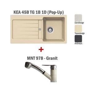 Pachet Teka chiuveta KEA 45B + baterie MNT 978 Granit1