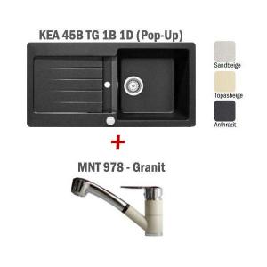 Pachet Teka chiuveta KEA 45B + baterie MNT 978 Granit2