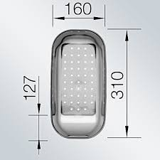 Recipient chiuveta gri transparent 214 4430