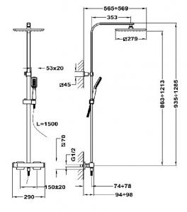 Teka Formentera 62.238.02.00 sistem de dus termostatic [1]