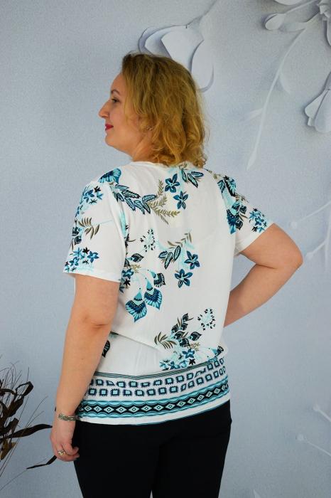 Bluza dama Daria cu maneca scurta si broderie cu margele la guler [1]