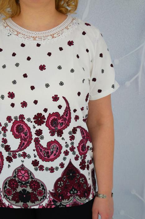 Bluza dama Diana cu maneca scurta si imprimeu abstract [2]