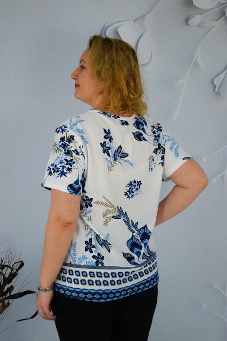 Bluza dama Caroli cu maneca scurta si imprimeu abstract [1]
