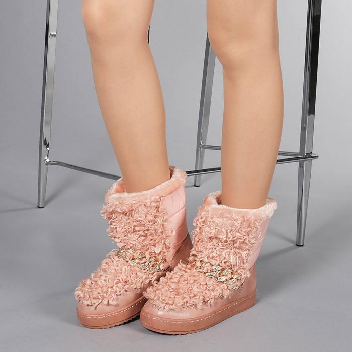 Cizme dama Coralia roz 2