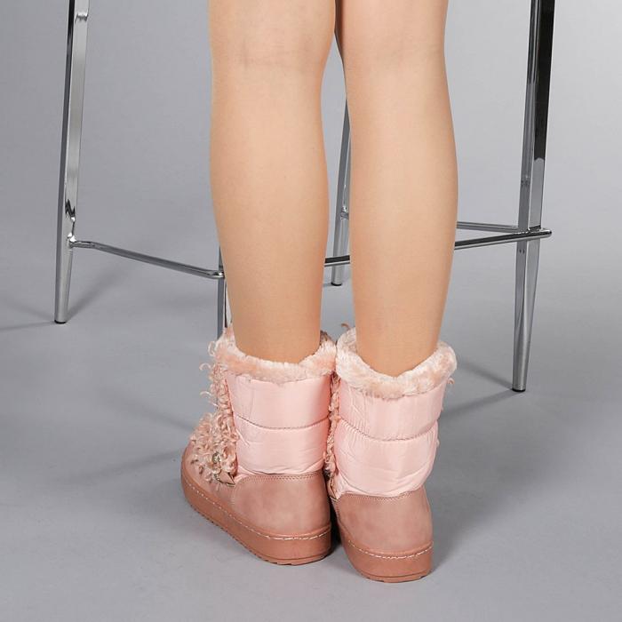Cizme dama Coralia roz 3