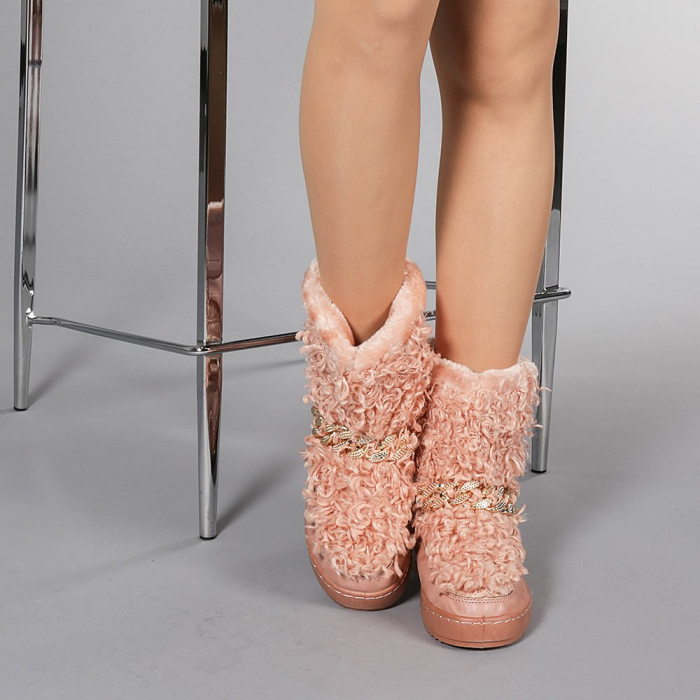 Cizme dama Coralia roz 1