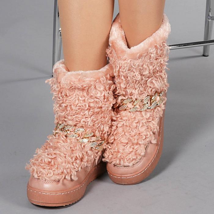 Cizme dama Coralia roz 0