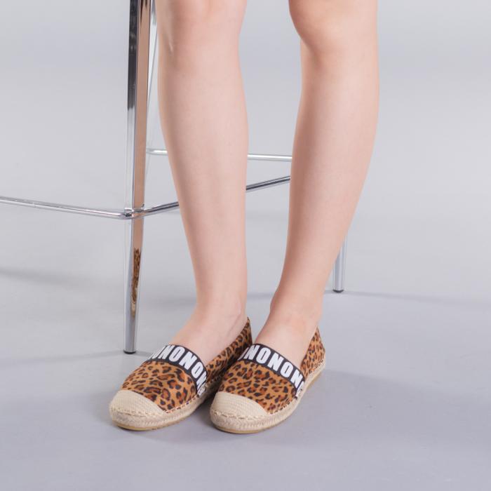 Espadrile dama Rodica leopard 2