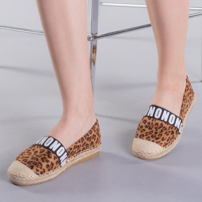 Espadrile dama Rodica leopard 0
