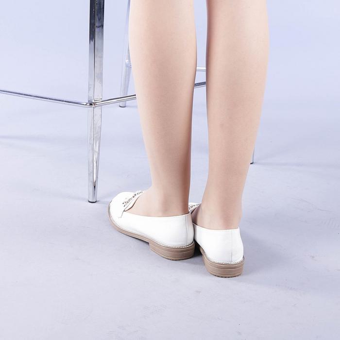 Mocasini dama Tania albi 3
