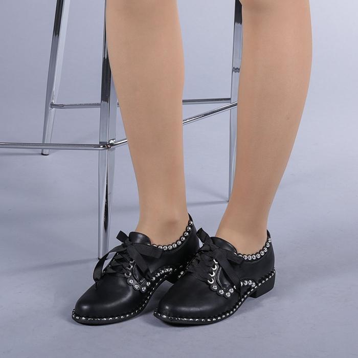 Pantofi casual dama Arabella negri 2