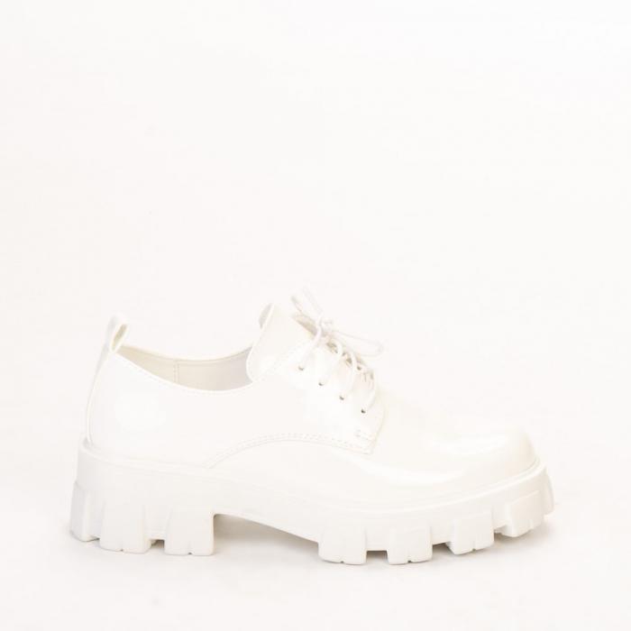 Pantofi casual dama Avona albi 0