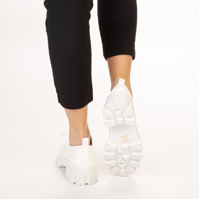 Pantofi casual dama Avona albi 3