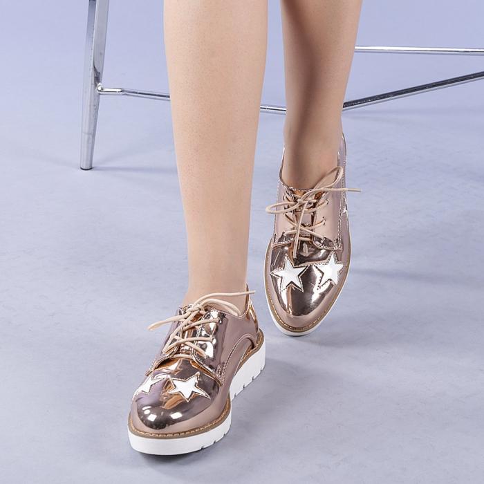 Pantofi casual dama Mirabela champanie 2