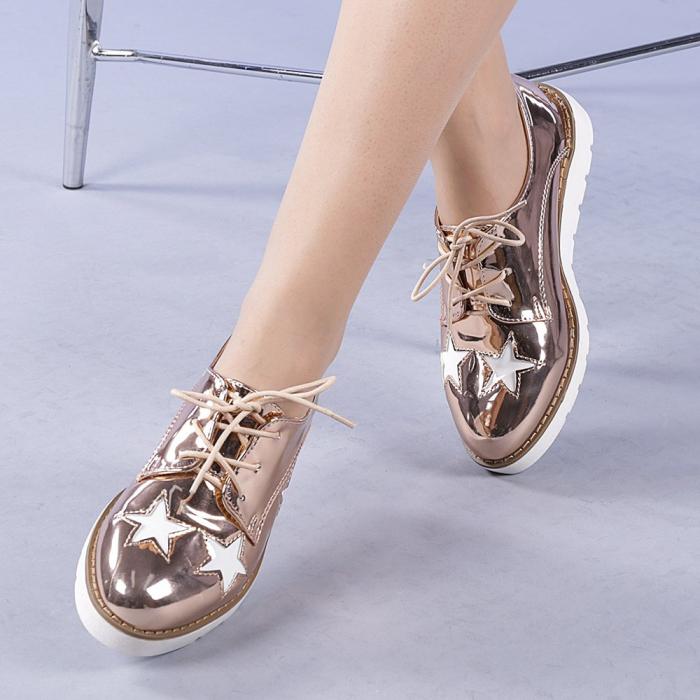 Pantofi casual dama Mirabela champanie 0