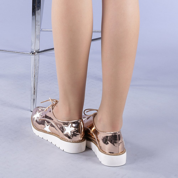 Pantofi casual dama Mirabela champanie 3