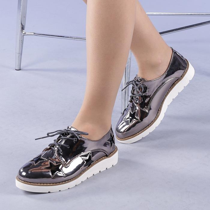 Pantofi casual dama Mirabela gri 0