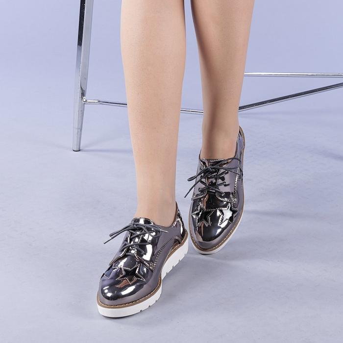 Pantofi casual dama Mirabela gri 2