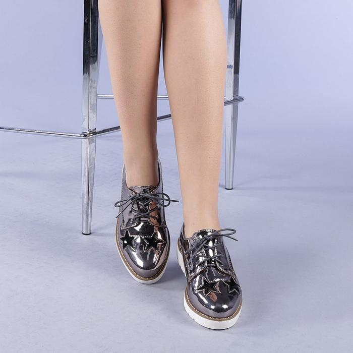 Pantofi casual dama Mirabela gri 1