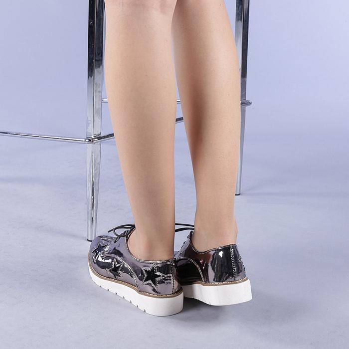 Pantofi casual dama Mirabela gri 3