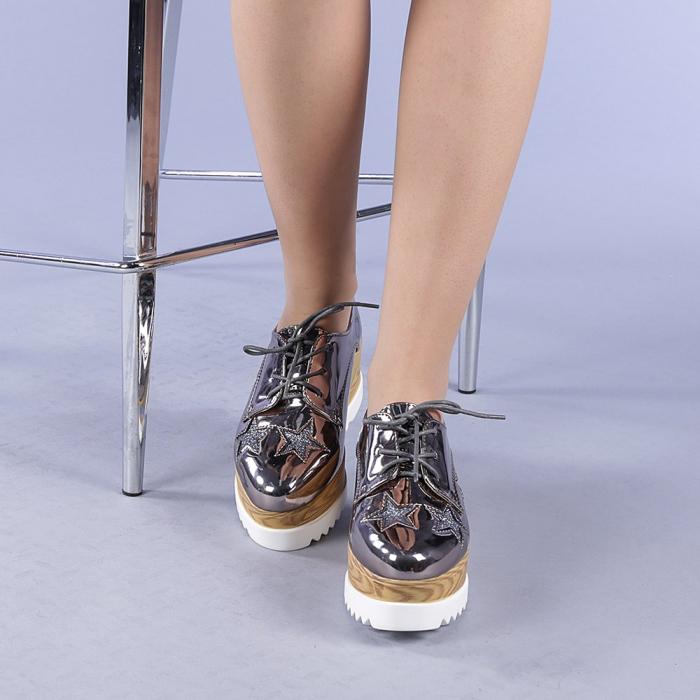 Pantofi casual dama Miriana gri 1