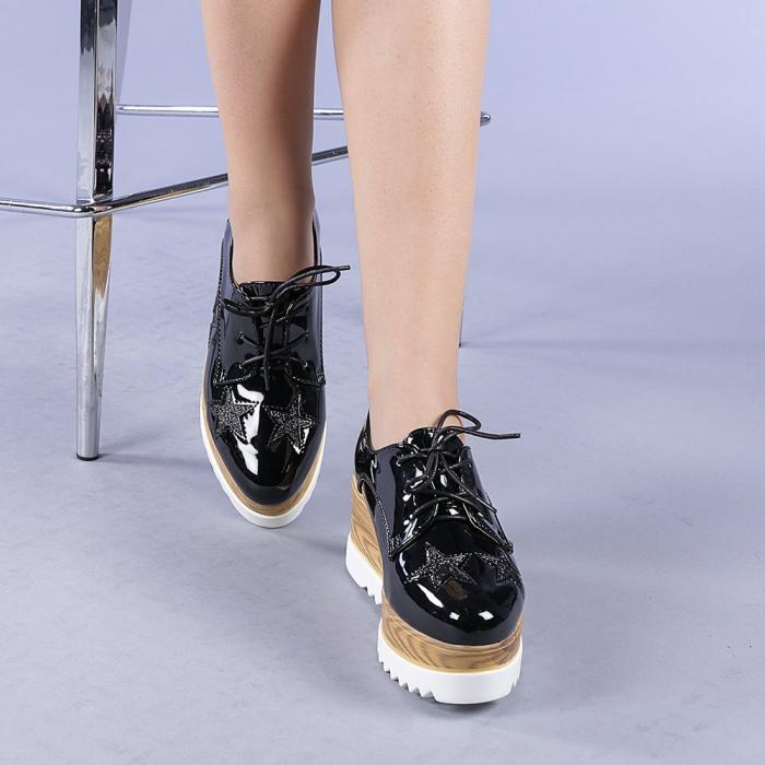 Pantofi casual dama Miriana negri 1