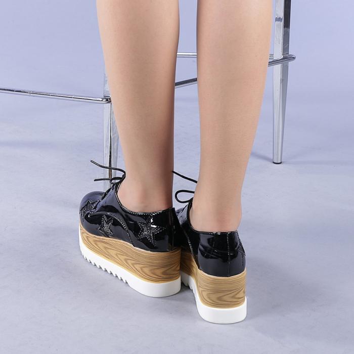 Pantofi casual dama Miriana negri 3