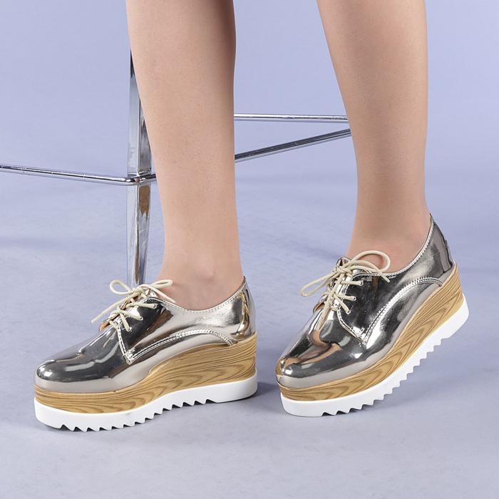 Pantofi casual dama Miruna aurii 2