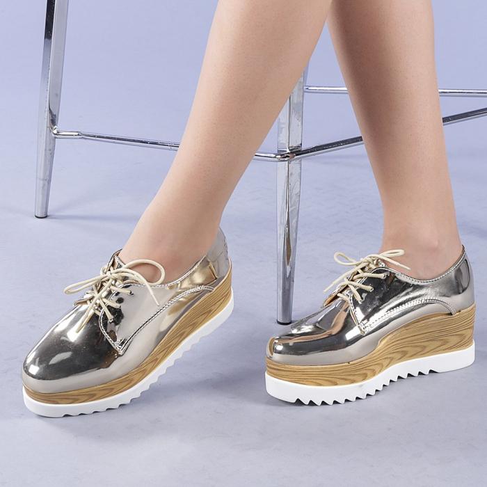 Pantofi casual dama Miruna aurii 0