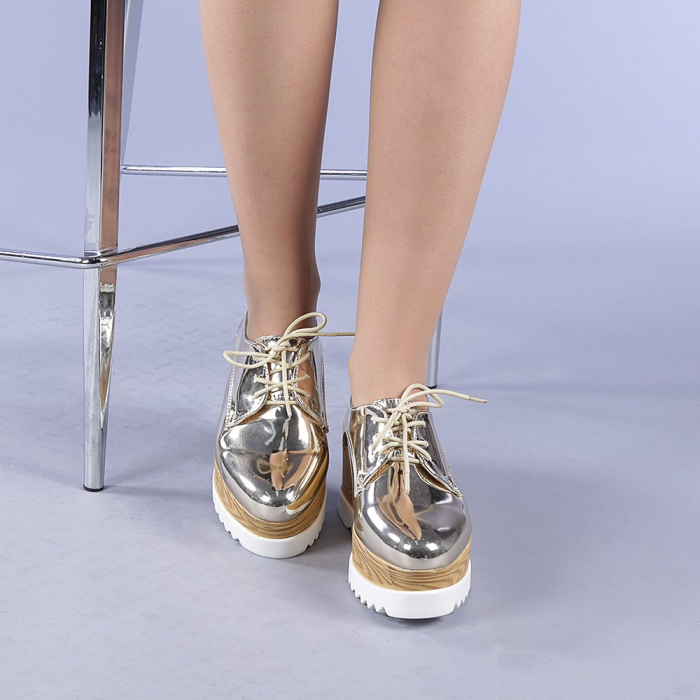 Pantofi casual dama Miruna aurii 1