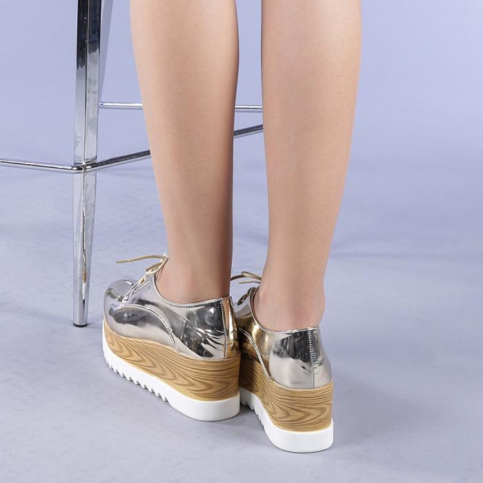 Pantofi casual dama Miruna aurii 3