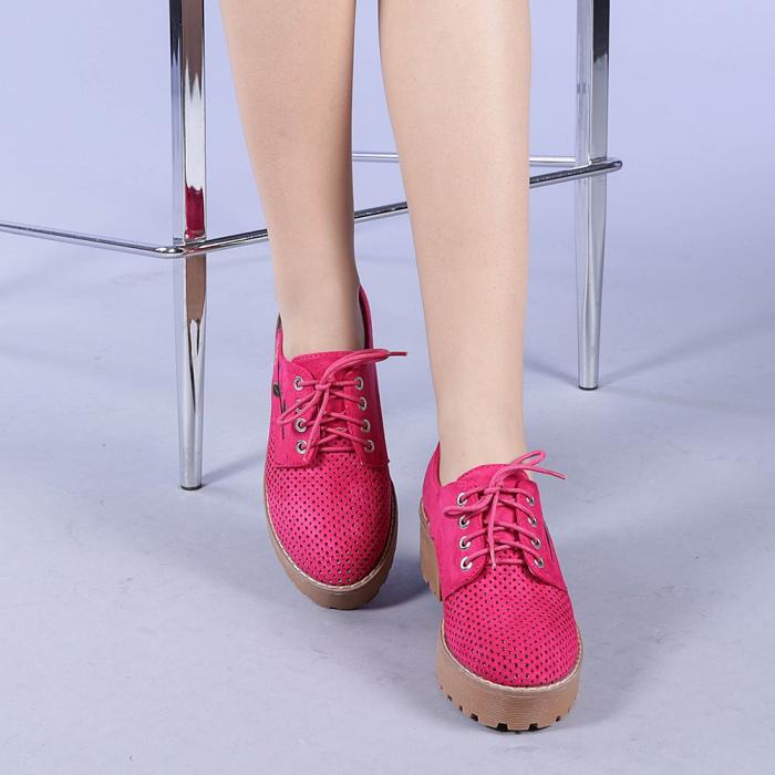 Pantofi casual dama Nazira fuchsia 1