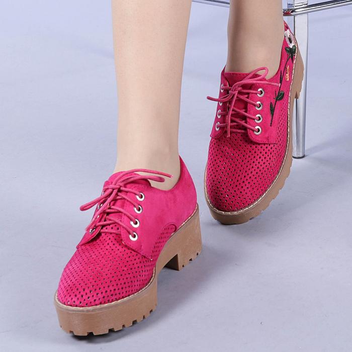 Pantofi casual dama Nazira fuchsia 0