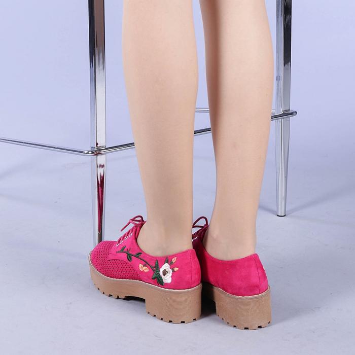 Pantofi casual dama Nazira fuchsia 3