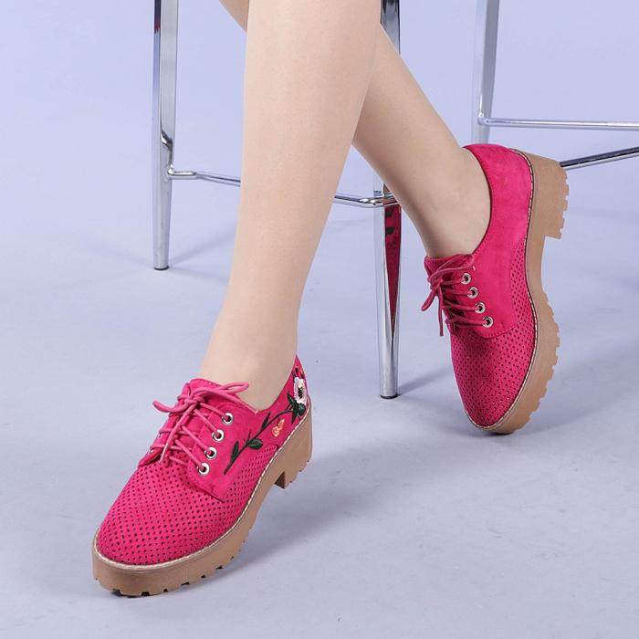 Pantofi casual dama Nazira fuchsia 2