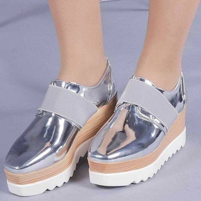 Pantofi casual dama Omana argintii 0