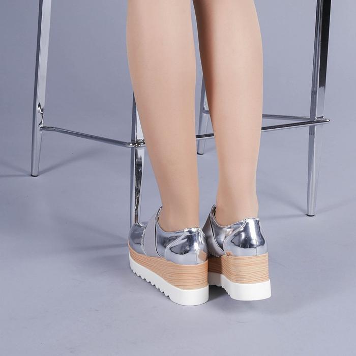 Pantofi casual dama Omana argintii 3