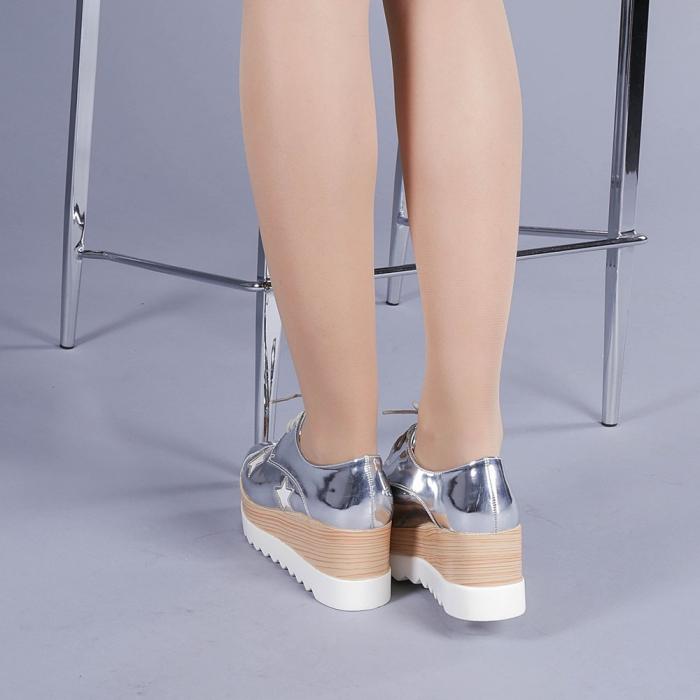 Pantofi casual dama Ramya argintii 3