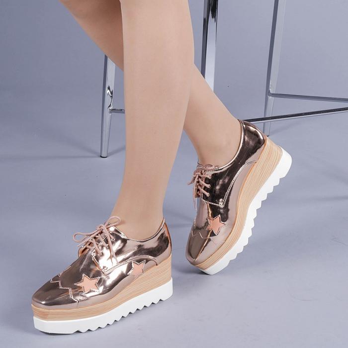 Pantofi casual dama Ramya champanie 2