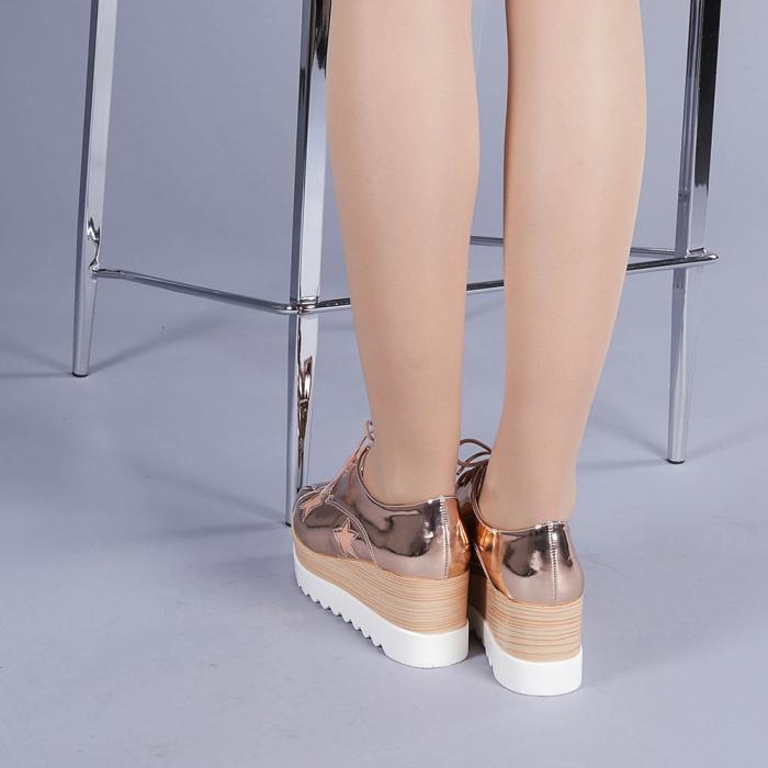 Pantofi casual dama Ramya champanie 3